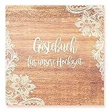 Gästebuch Hochzeit - Hochwertiges Hardcover-Buch mit 144 weißen Seiten Format 21 x 21 cm Premium Hochzeitsgästebuch Hochzeitsalbum Hochzeitsbuch Geschenk