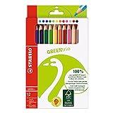 Umweltfreundlicher Dreikant-Buntstift - STABILO GREENtrio - 12er Pack - mit 12 verschiedenen Farben