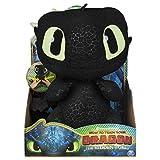 Dragons - Movie Line - 6046841 - Squeeze & Growl Plüscjfiguren - Toothless (Solid), Plüsch Figur, Dragons, Drachenzähmen leicht gemacht, Die geheime Welt, Ohnezahn