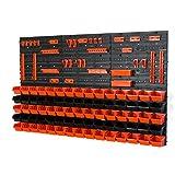 81 tlg Wandregal Regal InBox Gr.1 schwarz orange Werkstatt Lochwand Halterung