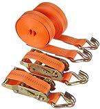 Braun 1000-2-600+3040/VE2 Spanngurt 2000 daN, zweiteilig, Farbe orange, 6 m Länge