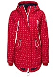 Sublevel Damen Softshell-Jacke Übergangsjacke mit Kapuze & Allover Print red L