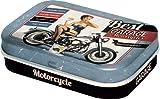 Nostalgic Art Pillendose Best Garage blau Bikergeschenk
