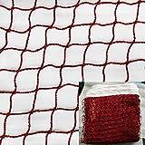 JIN CAN Badmintonnetz (geflochtenes Nylon-Netzgewebe in rot) für Innen- und Außensport Garten Schulhof Hinterhof