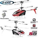 s-idee 01164 - S5 3.5 Kanal Heli Syma Hubschrauber RC ferngesteuerter Hubschrauber/Helikopter/Heli mit GYROSCOPE-TECHNIK + 2,4Ghz TECHNOLOGIE!!! für INNEN und AUSSEN brandneu mit eingebautem GYRO! FLUGFERTIG!