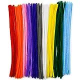 TOAOB Pfeifenreiniger 100 Stück Chenilledraht farbig sortiert Biegeplüsch für Kinder zum Basteln und Dekorieren