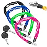 Fahrradschloss »Guardian« Sicherheitsschloss / Radschloss / Stahlgliederketten mit Schlüsseln zur Basisabsicherung - Inkl. 2 Schlüssel /ca. 60 cm lang, Durchmesser ca. 20 cm, Stärke ca. 3-4mm blau