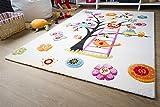Kinder Teppich Modena Kids Eule - Bunt Öko-Tex zertifizierter Kinderteppich, Größe 133x190 cm