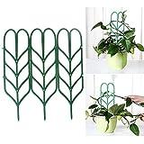 Haorw Blumenstütze Rankhilfe Gitterspalier Rankgitter für Topfpflanzen, 35.5x10cm, 1 Set