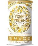Vegan Protein (Erdnussbutter Banane) - Protein aus Reis, Hanfsamen, Erbsen, Chia-Samen, Leinsamen, Amaranth, Sonnenblumen- und Kürbiskernen - 600 Gramm Pulver mit natürlichem Erdnussbutter-Bananen Geschmack