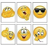 12 x Emoji Fun Mini-Notizblöcke. Ideales Geschenk für die Klasse und als Partytütenfüller