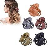 Klaue Clips, 5 STÜCKE Elegante Haarspangen Haargreifer Vintage Einfache Unregelmäßige Rutschfeste Haarnadel Haar Zubehör Für Frauen