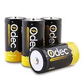 Odec C Akku 5000mAh, 1,2V NiMH Wiederaufladbare Batterien LR14 / Baby C, 4 Pack