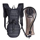 Unigear Hydration Rucksack Trinkrucksack Taktischer Hydrapack mit Trinkschlauch Backpack mit 2,5 l Trinkblase Perfekt für Wandern Radfahren Joggen, Spazieren Klettern und Bergsteigen (schwarz)