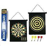 Umkehrbare magnetische Dartscheibe - Geschenk Boxed, einfach zu Rollen und Shop mit Darts ... (12')