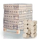 PALIGO RUF Holzbriketts Duplex Hartholz Eiche Kamin Ofen Brenn Holz Heiz Brikett 10kg x 30 Gebinde 300kg / 1 Palette HEIZFUXX