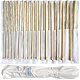 Set aus 32 Bambus-Stricknadel von Curtzy - 16 Paar Holzstricknadeln mit Kostenloser Aufbewahrungstasche - Ideal für Pullover, Spitzen und Blumen-Projekte - Das Beste Set für Anfänger und Profis