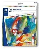 Staedtler 8880 C24 ST Aquarellfarben karat (hochpigmentiert, leicht mischbar, wasserlöslich, Künstlerqualität, Kartonetui mit 24 farblich sortierten Aquarellfarben, Farbtuben á 12 ml)