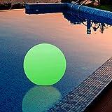 Wasserdichte LED Kugel Stimmungslicht - Schwimmkugel mit Farbwechsel und Fernbedienung 25cm von PK Green