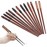 6 Paar Essstäbchen Japanische Natur Chopsticks aus umweltfreundlichem hölzernen in edler Schatulle Geschenkbox
