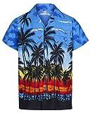 Herren Hawaiihemd Short Sleeve Stag Beach Urlaub Palm Tree Party - alle Größen