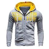 Pullover Für Herren,Lange Ärmel Sweatshirt Jacke Coat Resplend Freizeit Sport Cardigan Herbst Winter Jacke Mantel Reißverschluss Streetwear Outwear