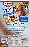 Dr. Oetker Vitalis Weniger Süß Schoko: Knuspermüsli mit Schokostückchen und Mandeln, 1er Packung, 600g