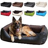 CopcoPet - Hundebetten Rocco, 2in1 wasserabweisendes Hundebett, Hundeschlafplatz komplett aus Kunstleder, Hundematratze aus Schaumstoff-Flocken od orthopädischem Viscoschaumstoff