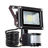 LED Strahler Bewegungsmelder Außen Fluter LED Aussenstrahler Mit BewegBungsmelder SAMNUE 10W Wasserdicht 1000 LM LED Lampen[Energieklasse A++]