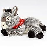 Esel CHIPSY Grauesel Hausesel liegend mit rotem Halstuch Plüschtier 29 cm von Kuscheltiere.biz