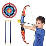 GUOGUO Pfeil und Bogen Kinder Bogenschießen Schießspiele ab 6 Jahre, 65×25cm