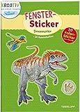 Fenster-Sticker. Dinosaurier: 24 Ausmalseiten, 20 Folien-Sticker