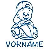 Baby Autoaufkleber mit Namen - Babyaufkleber Auto Junge - (Höhe 15cm) - Baby on Board Aufkleber - Babysticker mit Wunschnamen - von stick-us