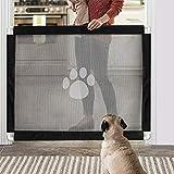 PETEMOO Hunde Türschutzgitter Abschließbar Hundeschutzgitter Treppenschutzgitter Absperrgitter für Haustier, 80cm x 100cm