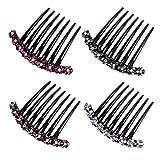 Lurrose 1pc Zähne Haarkamm Strass Steckkamm für Frauen Mädchen Haarschmuck Geschenk (Zufällige Farbe)