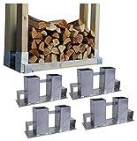 Holzstapelhilfe Feuerverzinkt stabile Holz Stapelhilfe Stapelhilfe Holzstapelhalter Brennholz Kaminholz Gestell Holz (4 Stück)