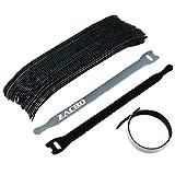 Zacro 30 Stück wiederverwendbare Klettkabelbinder Kabelklett Seilklett Veranstalter mit Klettverschluss,leichte Reihe,Ideal für den vielseitigen Einsatz im Kabelmanagement