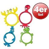 Tauchtiere 4er Set BECO Tauchringe schwimmen tauchen lernen Kinder Spielzeug