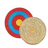 Hualieli Runde Strohscheibe Coiled Archery Straw Target Zielscheibe Bogenschießen Stroh Bogen Ziel Outdoor Sports Traditioneller Bogenschießen Zubehör