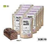 Organic Workout PALEO-BACKMISCHUNG 10er Pack - bio, gluten-frei, lower-carb, Eiweiss-Brot-Alternative, Fitness-Brot-Alternative, clean-eating, hefefrei, ohne Getreide, hergestellt in Deutschland