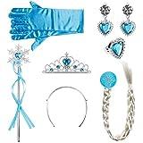 Lictin Prinzessin Kostüme Zubehör Mädchen Verkleidung set Krone Haarreifen Zopf Ring Ohrringe Zauberstab Handschuhe