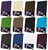 NatureMark Frottee Spannbetttuch, Spannbettlaken in allen Größen und vielen Farben (180x200 bis 200x200 cm, royalblau)