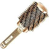 Beste Rundbürste zum Haare trocknen / föhnen, mit natürlichen Wildschweinborsten für Föhne (53 mm) - Haarstylingprodukt in Profi-Salonqualität für gesunde, seidig, glänzende, glattes Haar