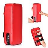 Queta 2 Stück PU Leder Schlagpolster Schlagkissen Handpratzen Schlagpratzen Kickschild Boxsack für Kickboxen Thaiboxen Karate UFC MMA (2)