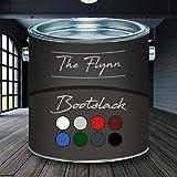 The Flynn Bootslack hochwertiger Yachtlack für Holz und Metall in 8 Farben und farblos Bootsfarbe Yachtfarbe Pakett-LackSchiffslackierungabriebfeste, seewasserfeste und extrem wetterfeste Schiffslackierung