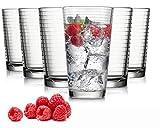 Tivoli Madrid Wassergläser - Set aus 6 - Hochwertige Gläser - Spülmaschinenfest - Kristallgläser (485 ml)