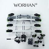 WORHAN Fahrradträger Heckträger Fahrrad - Gepäckträger Anhängerkupplung ISO9007, UKAS998,, LED (Für 4 Fahrräder FA4