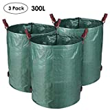 MVPower 3er Gartensack 300L Gartenabfallsack aus Robuste PP - selbststehend und faltbar - Abfallsäcke für Gartenabfälle Laub Rasen Pflanz Grünschnitt (3xSäcke)