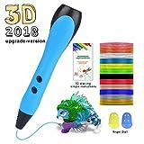 3D Stift Set 3D Stereoscopic Printing Pen Drawing, 3 x 3M PLA Filament 12 Farben, Intelligent mit LCD-Bildschirm, Freihand 3D Zeichnungen, für Kinder Erwachsene Kunstwerken