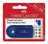 Faber-Castell 182797 - Doppelspitzdose, farblich sortiert in rot und blau -keine Farbauswahl möglich-